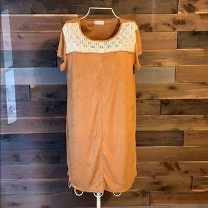 Altar'd State Size L Rust Short Sleeve Dress